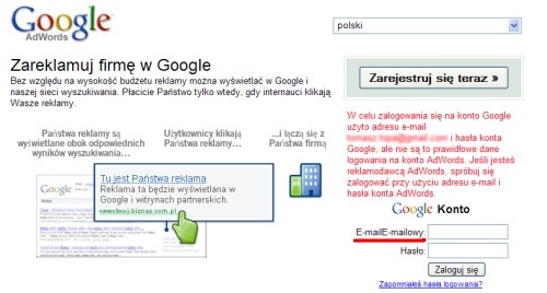 AdWords E-mailE-mailowy