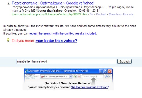 Yahoo! with IE7?