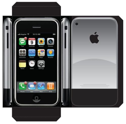 iPhone szablon do wycinania