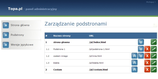 Topa.pl CMS beta 0.000001 screenshot ;)