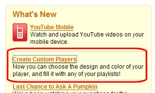YouTube Custom Players