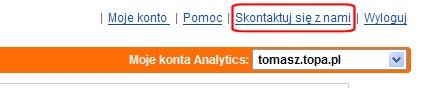 Google Analytics - skontaktuj si? z nami