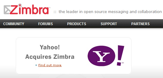 Yahoo kupiło Zimbra.com