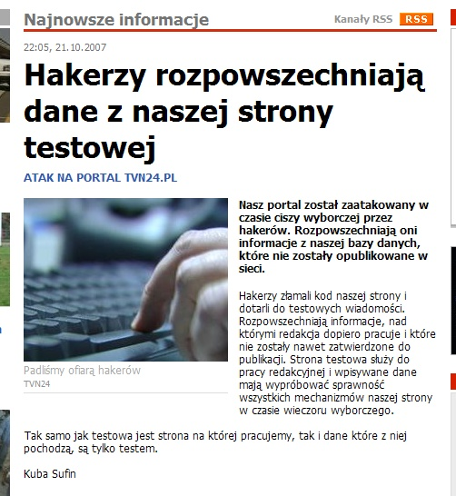 TVN24.pl hacked