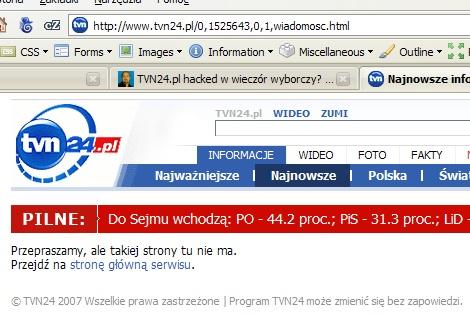 TVN24.pl ju? nie hacked