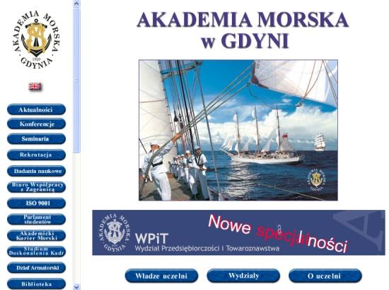 Akademia Morska - stara strona