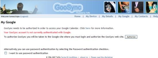 My Google GooSync
