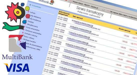 mBank, MultiBank i Visa