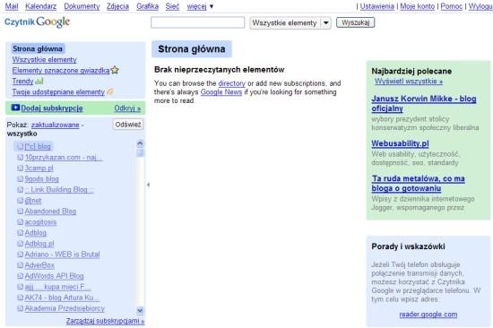 Google Reader PL - Czytnik Google
