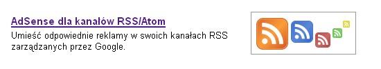 Ruszaj? reklamy Google AdSense dla kana?�w RSS/Atom