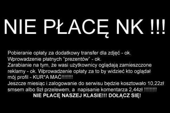 Nie płacę za NK ;)