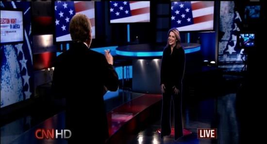 Hologram u?yty podczas wieczoru wyborczego w CNN