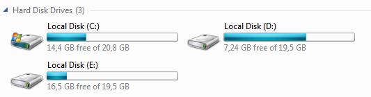 Windows 7 beta partycje