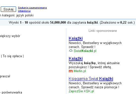 Favicon przy reklamach Google AdWords