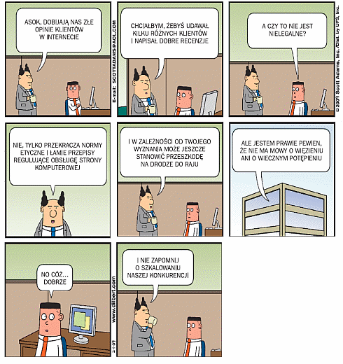 Dilbert. Word of Mouth Marketing