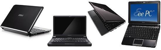 EeePC 1000H vs MSI Wind U100 vs Samsung NC10 vs Lenovo S10