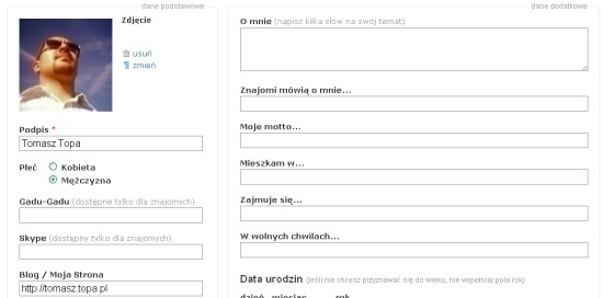 Pstro.pl profil
