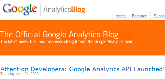 Google Analytics API