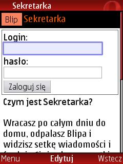 Mobilna Blipowa Sekretarka
