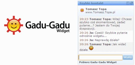 WebAplikacje GG Network: Widget Gadu-Gadu
