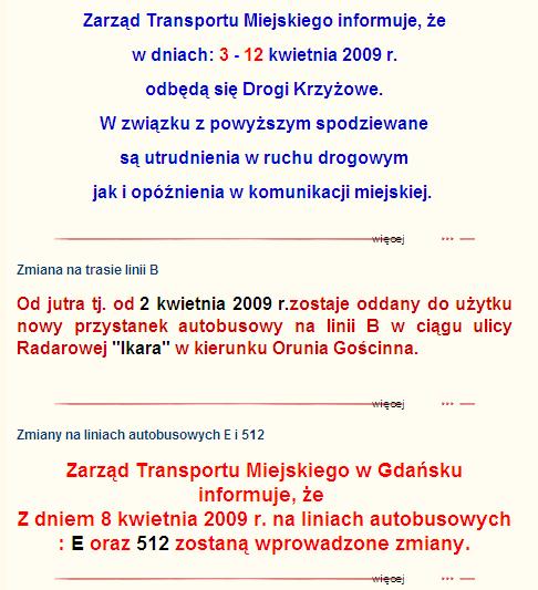 ZTM Gdańsk informuje...