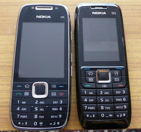 Nokia E75 i E51 - por�wnanie