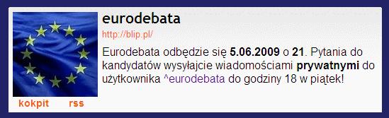 Eurodebata w serwisie BLIP