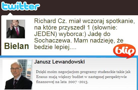 Eurowybory i mikroblogi: Twitter i Blip