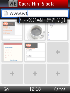 opera mini 5 beta wprowadzanie tekstu