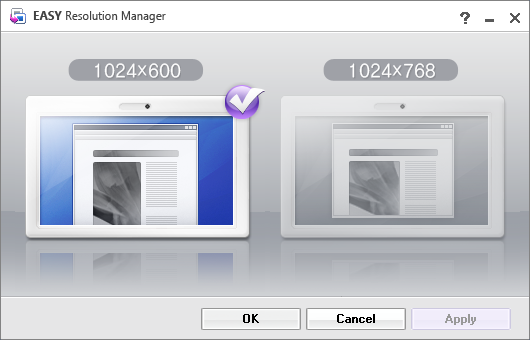 Samsung Resolution Manager