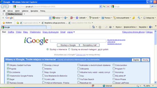 Samsung N140 Internet Explorer po uruchomieniu