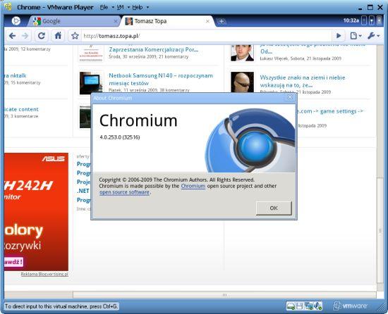 Google Chrome OS login screen