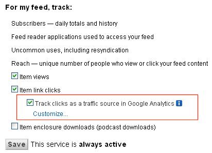 ?ledzenie wej?? z RSS w Google Analytics - konfiguracja FeedBurner