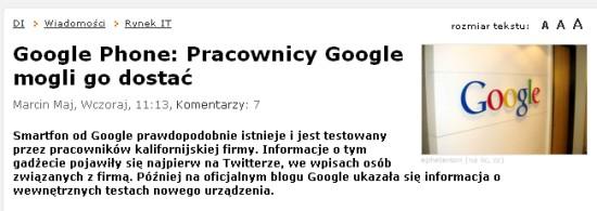 Google Phone - Nexus One