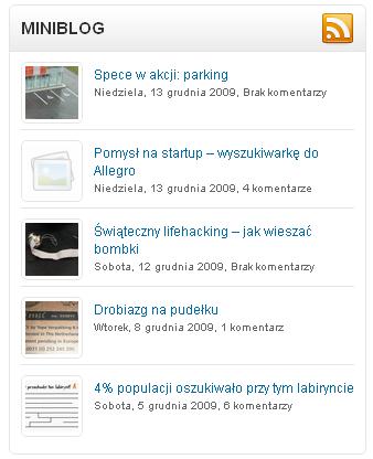 Screen z minibloga