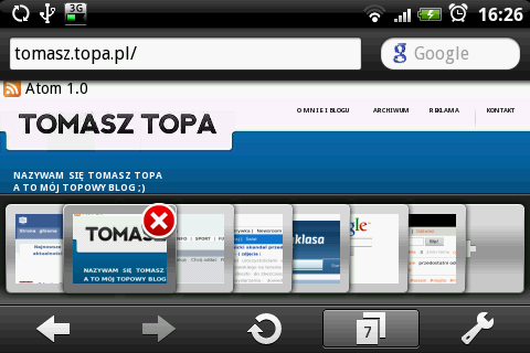 Opera Mini 5 beta zak?adki