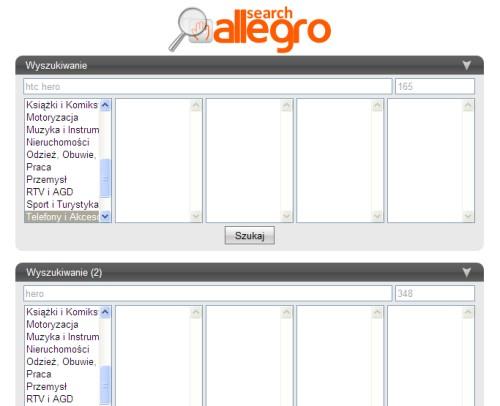 SearchAllegro - wyszukiwarka allegro