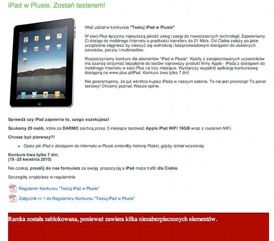 Plus GSM Wygraj iPada