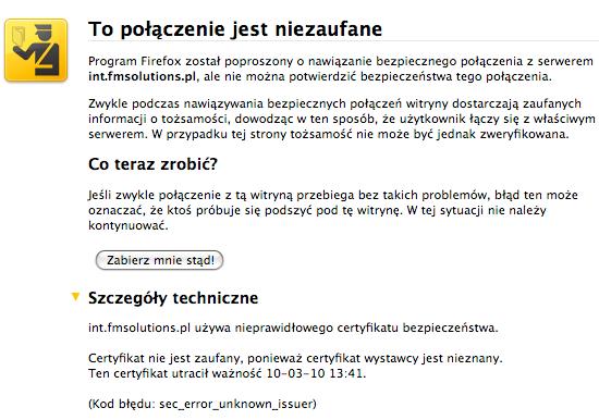 iPad w Plusie - problem z certyfikatem