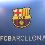 Logo FC Barcelony na ścianie
