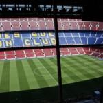 Stadion z kabin komentatorów