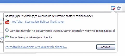 Google Chrome pop-up problem - flash - YouTube - AdSense