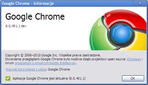 Google Chrome 6.0.401.1dev