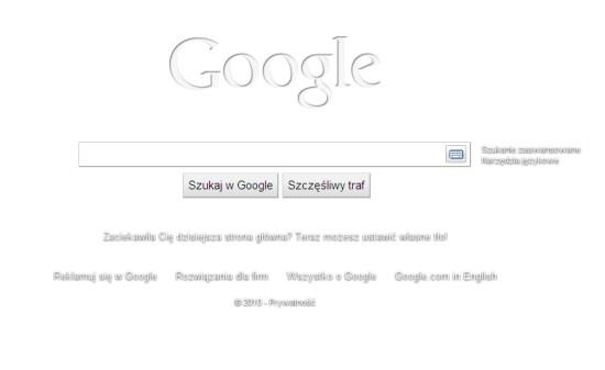 Biała tapeta Google