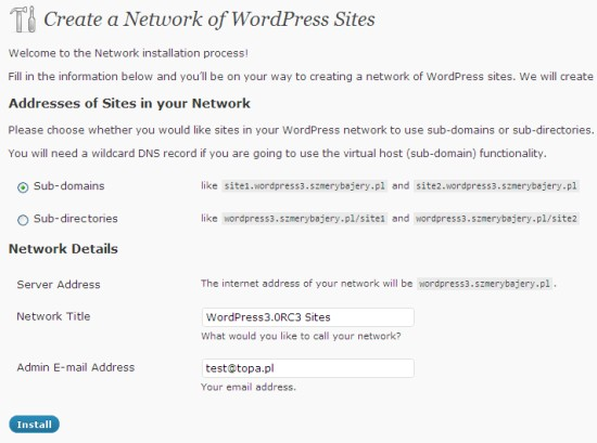 WordPress MU functions in WordPress