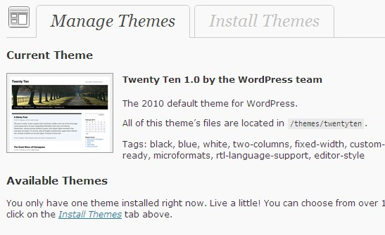 WordPress 3.0 Themes