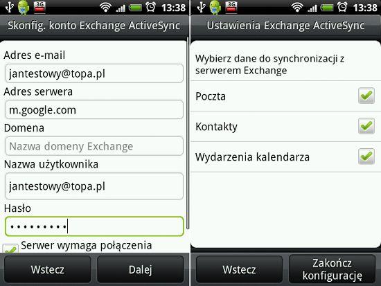 Synchronizacja Google Apps