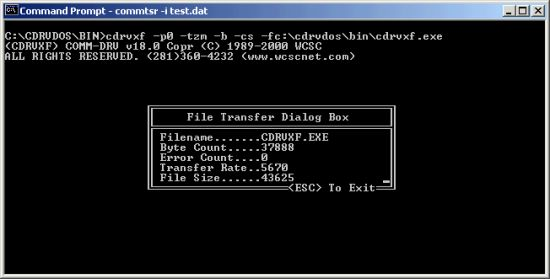Screen ZModem/XModem/YModem File Transfer Utility