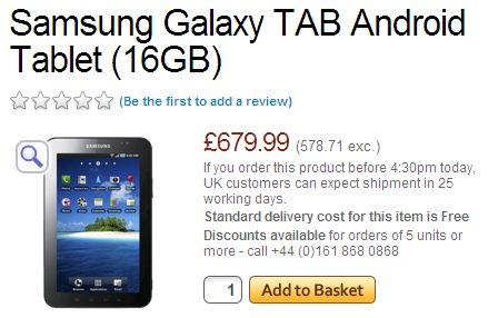 Samsung Galaxy Tab @ Expansys