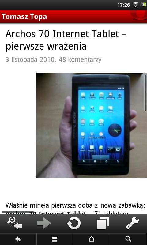 Opera Mini 5 - zoom